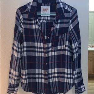 Mossimo flannel top FITS M/L